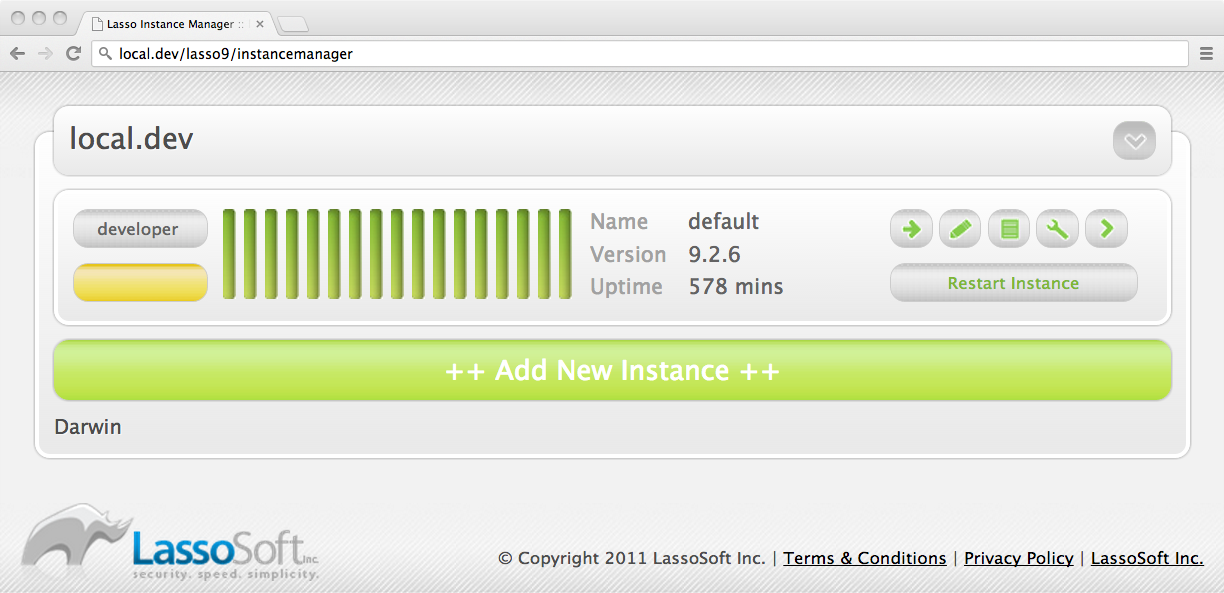 Lasso Instance Manager Main Screen